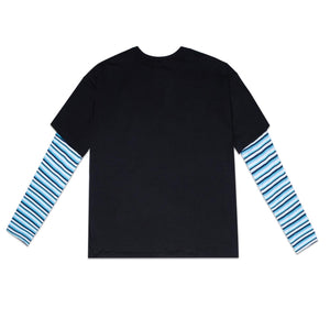 BLUE STRIPES SWEATER - BLACK