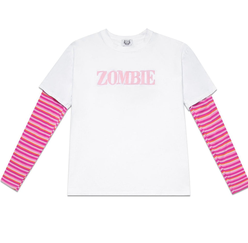 PINK STRIPES SWEATER - WHITE