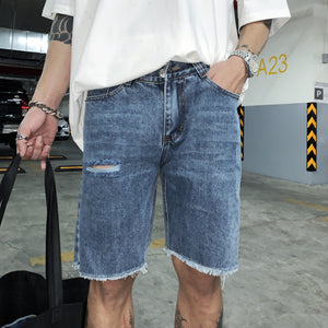 7778 #1 HD SHORT JEANS IN DARKBLUE