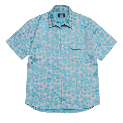 8591 BLUE FLOWER SHIRT