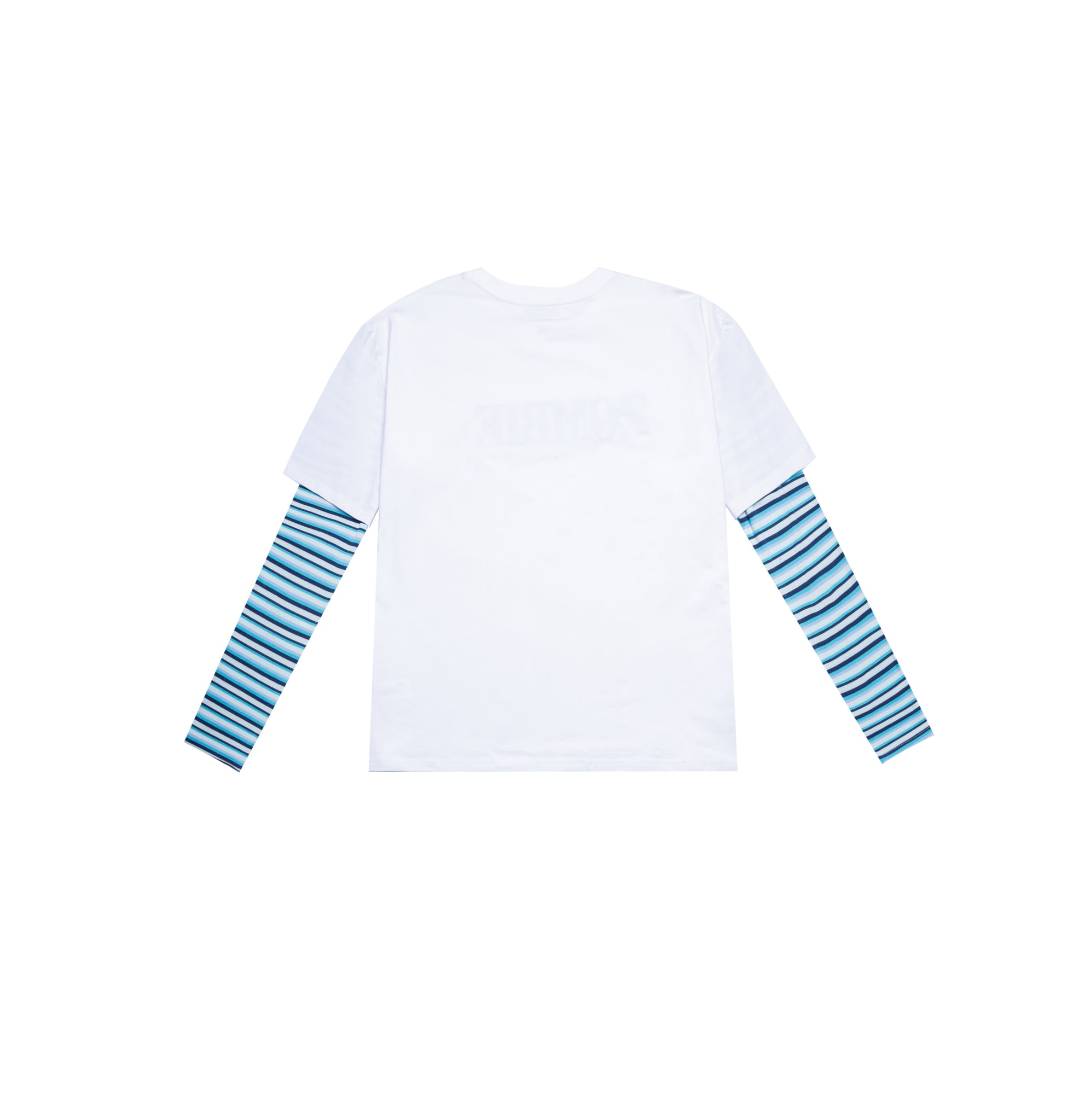 BLUE STRIPES SWEATER - WHITE