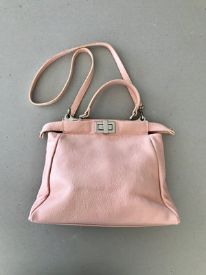 Soft Pink Italian Leather Handbags