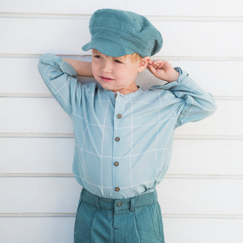 Organic Woven Peasant Shirt - Lakechecks - 2-9y