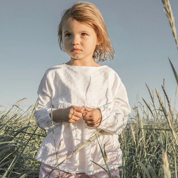 yoke blouse fille en 100% coton par As We Grow, fabrique en l'europe portugal
