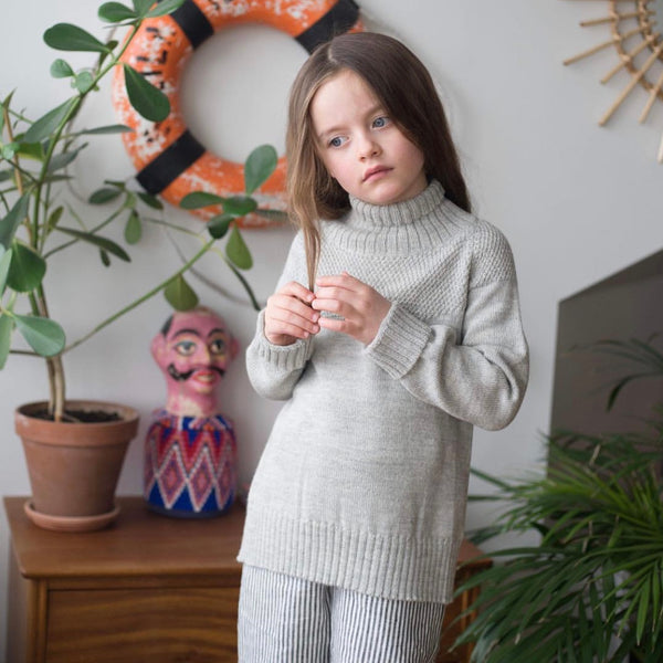 As We Grow, slow fashion, alpaga merinos laine pull enfants tricoté, laine meilleure qualité