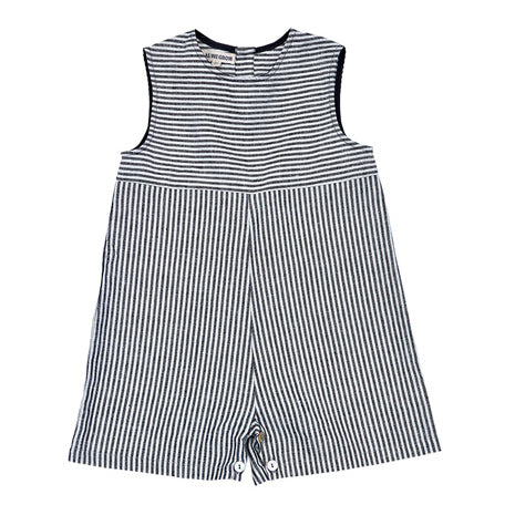 combicourt enfant en lin gris rayé, As We Grow, Slow fashion, vêtements naturel enfants, siblings overall grey white