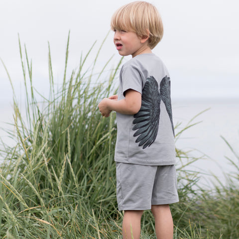 Organic Cotton Shorts - Grey - 2-8y