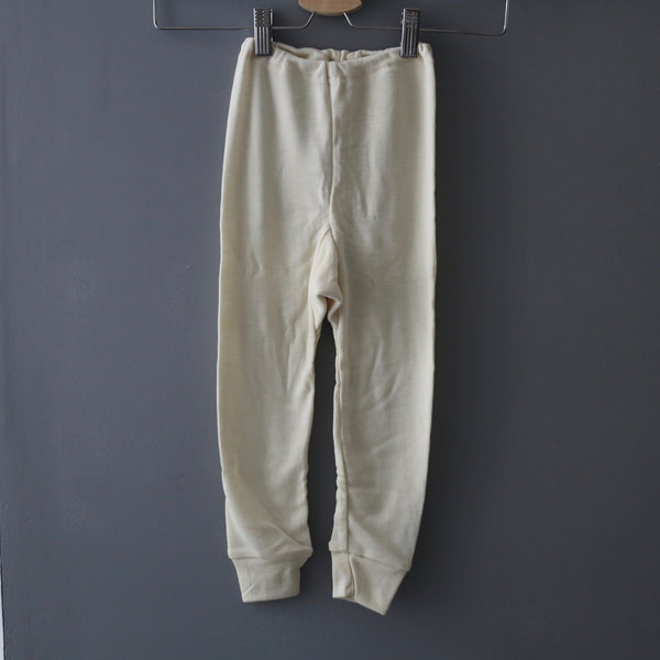 Merino Wool & Silk Long Johns - Natural - 1-8y