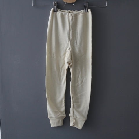 Organic Wool & Silk Long Johns - Natural - 1-10y