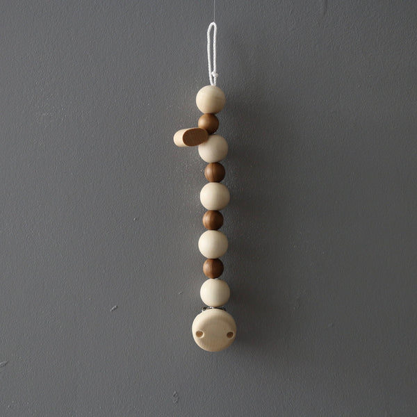 Dummy/ Soother Chain  Natural Wood
