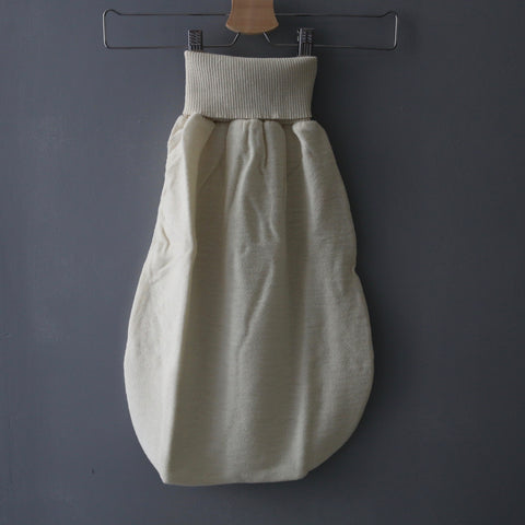 Organic Wool Terry Romper Pouch - Natural - 0-6m