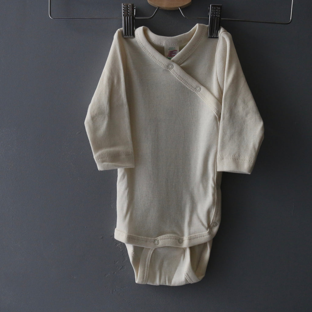 Organic Cotton Wrap Body - Natural - 0-12m