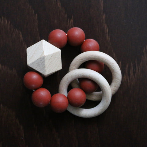 Titan Teether Rattle - Rust