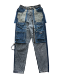 Reconstructed Convertible Denim Cargo
