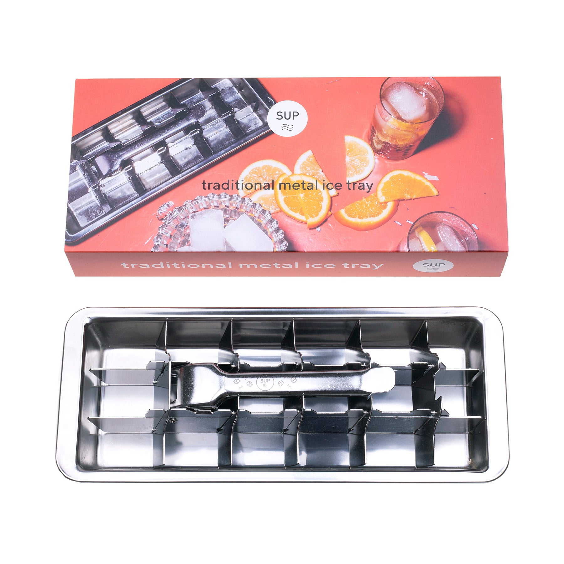 Traditional metal ice tray