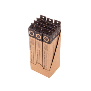 12 Pack Bamboo Toothbrush - Hard Black Bristle