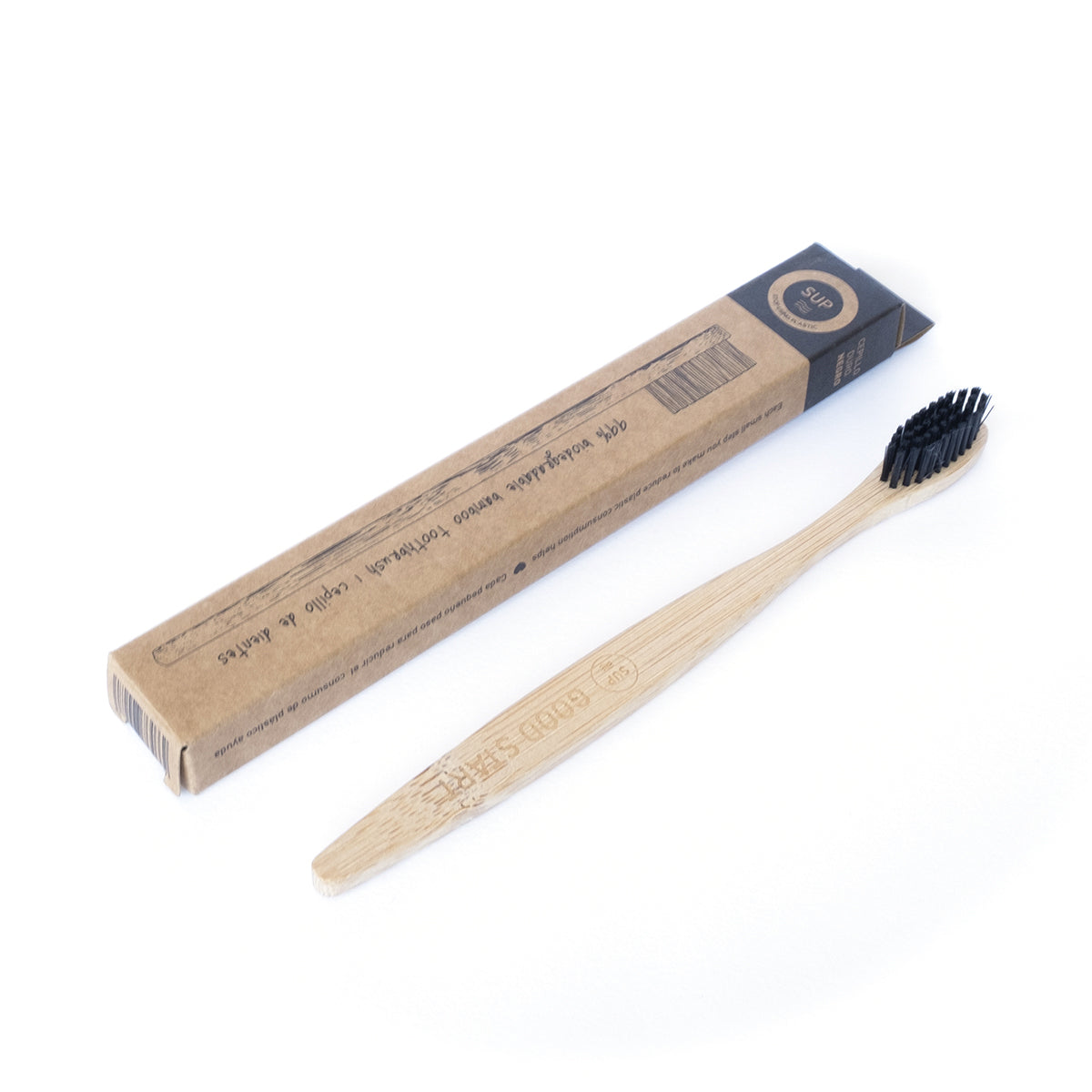 Bamboo Toothbrush - Hard Black Bristle