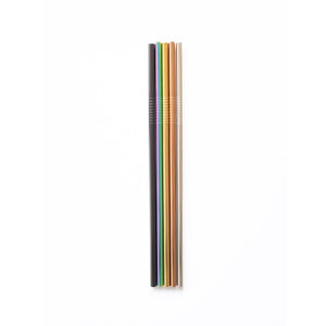 Individual Metal Straight Straw - Choose your colour