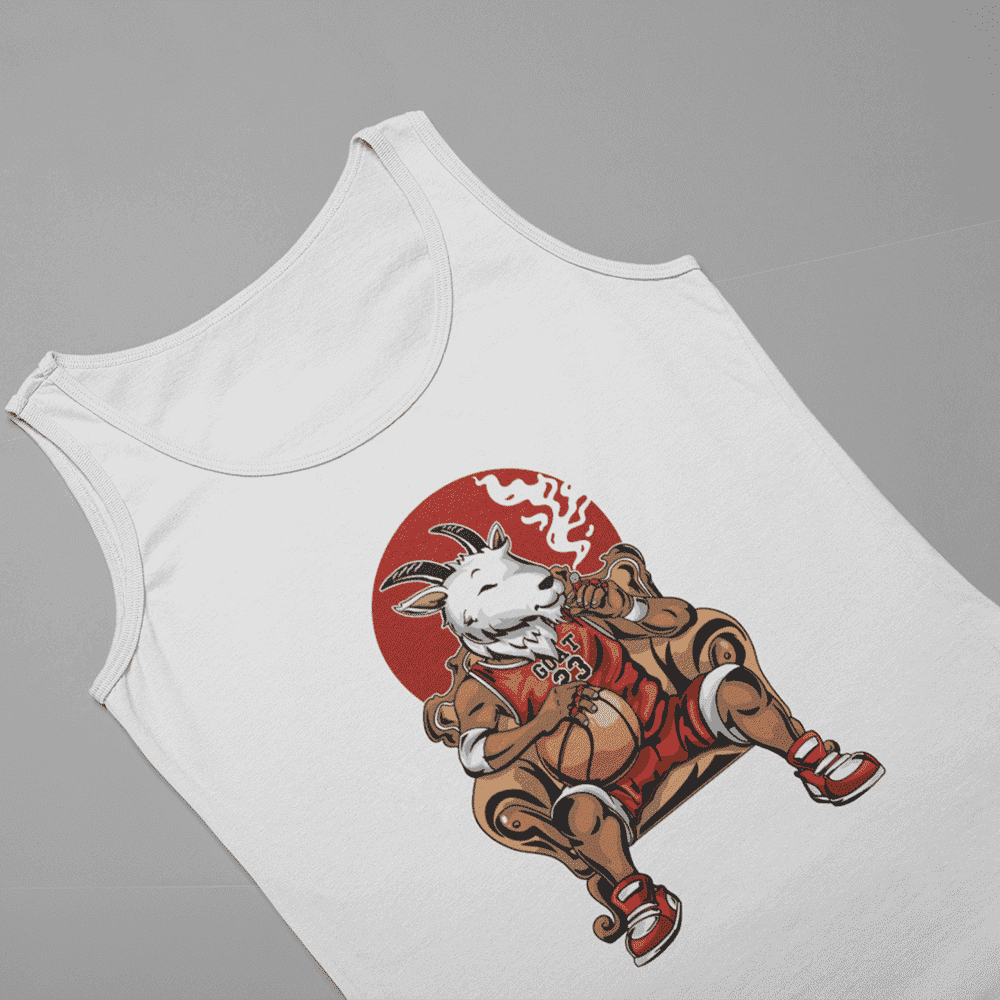 Men's G.O.A.T White Tank Top