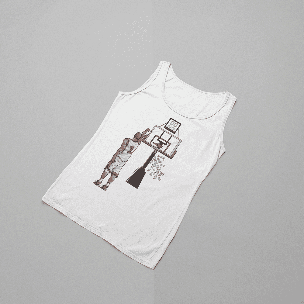 Men's Money Shot White Tank Top