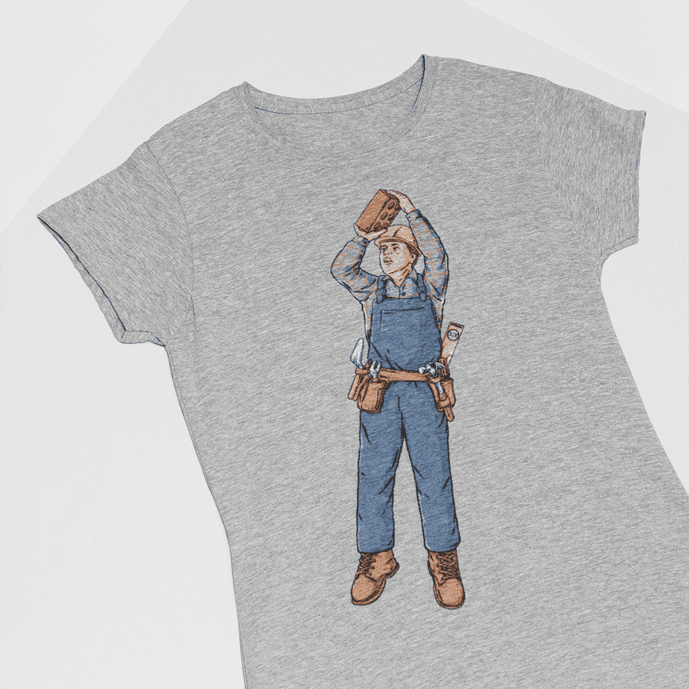 Women's Brick Shot Gray T-Shirt