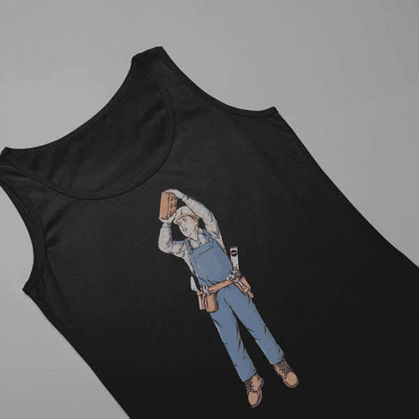 Women's Brickshot Black Tank Top