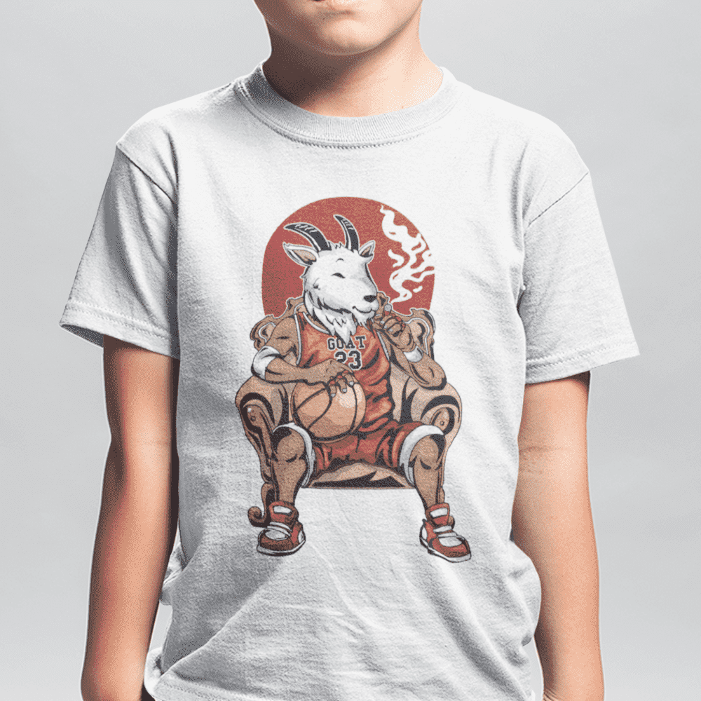 Youth G.O.A.T White T-Shirt