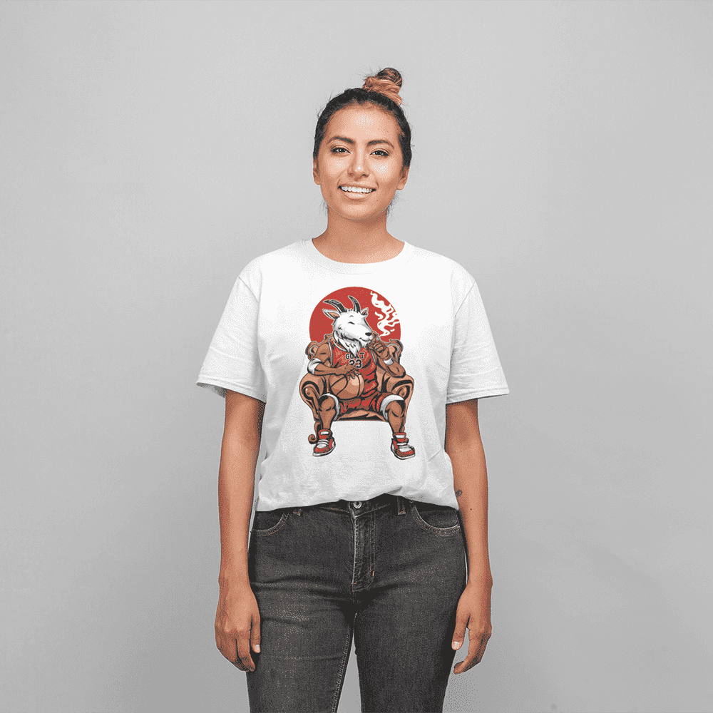 Women's G.O.A.T White T-Shirt