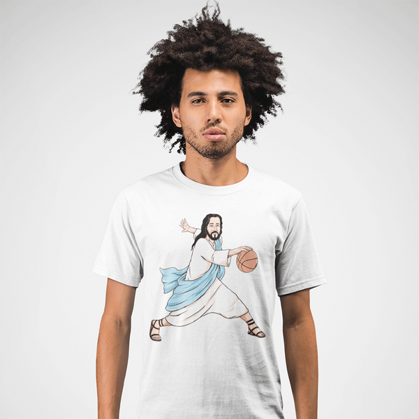 Men's Jesus Crossover White T-Shirt