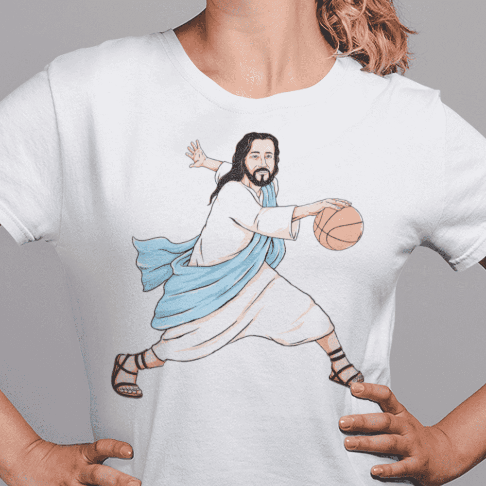 Women's Jesus Crossover White T-Shirt