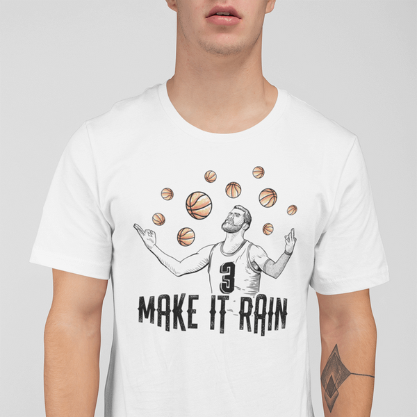 Men's Make It Rain White T-Shirt
