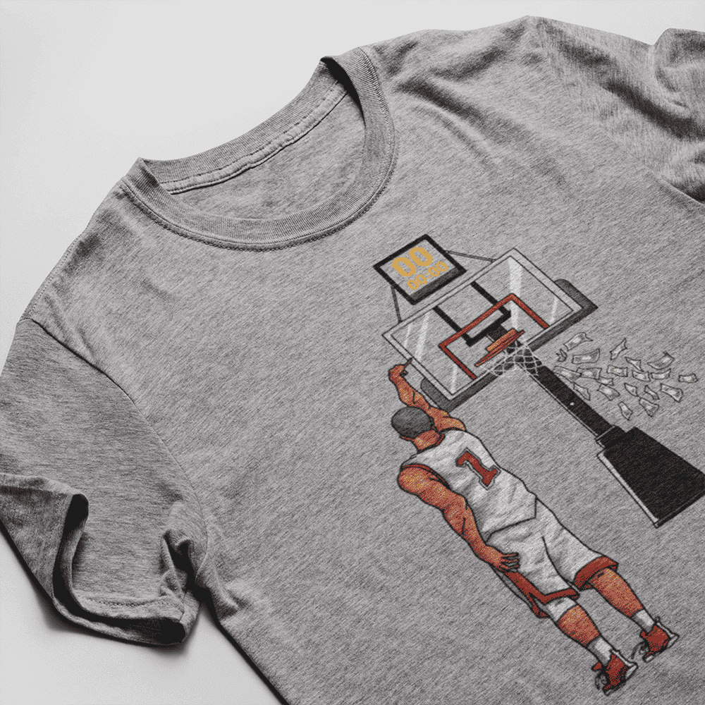 Men's Money Shot Gray T-Shirt