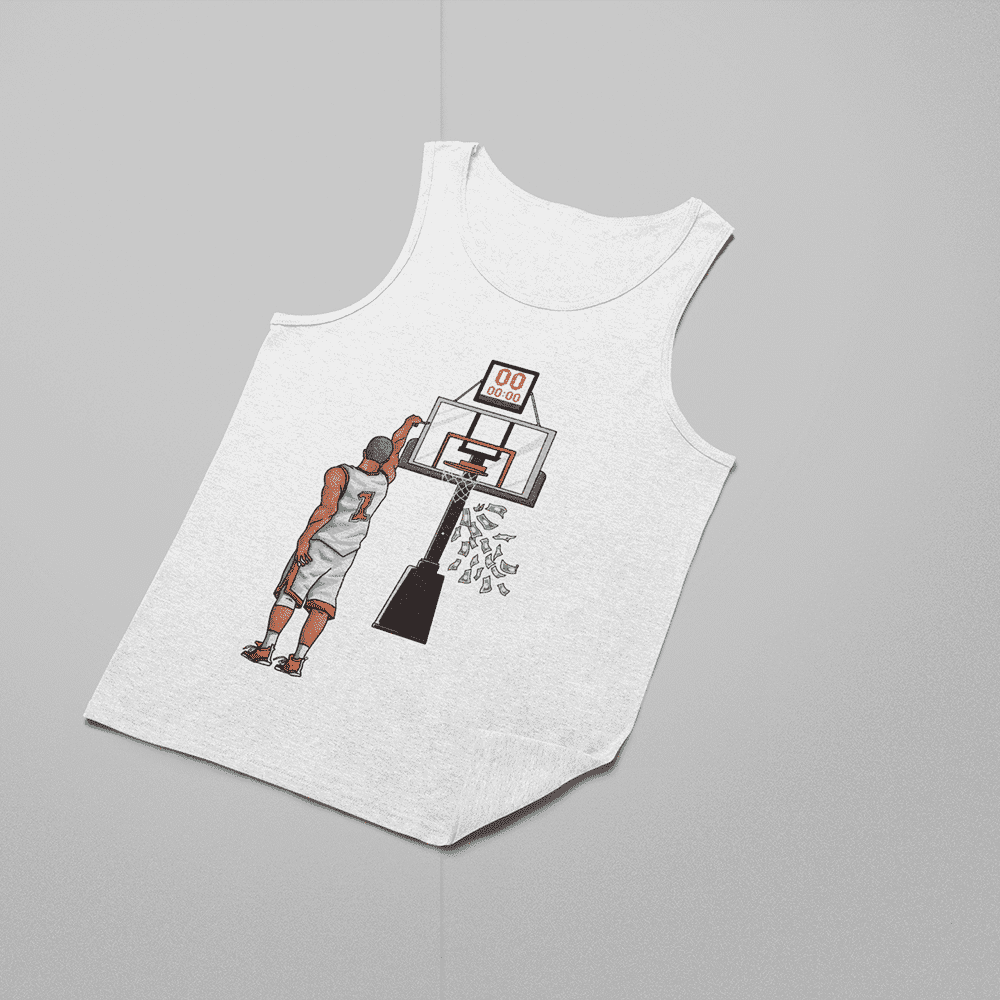Women's Money Shot White Tank Top