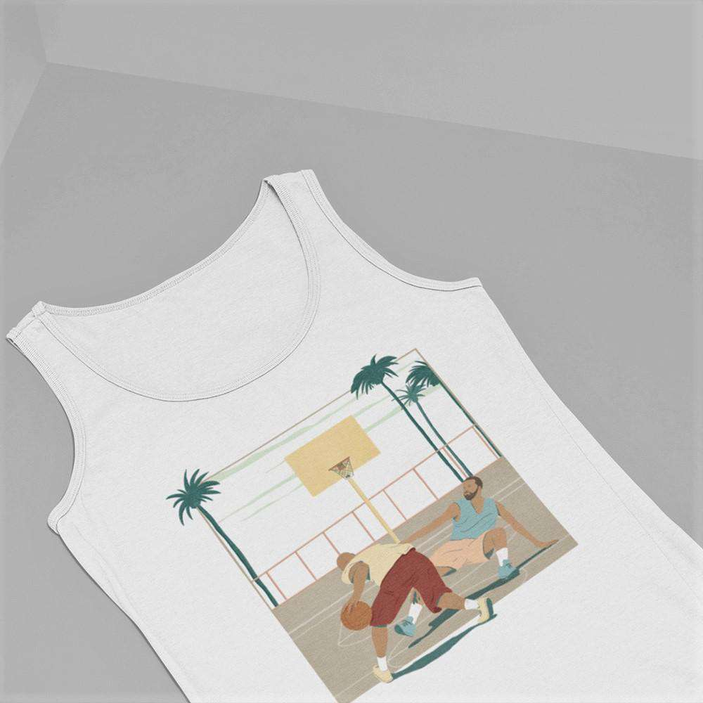 Men's The Crossover White Tank Top