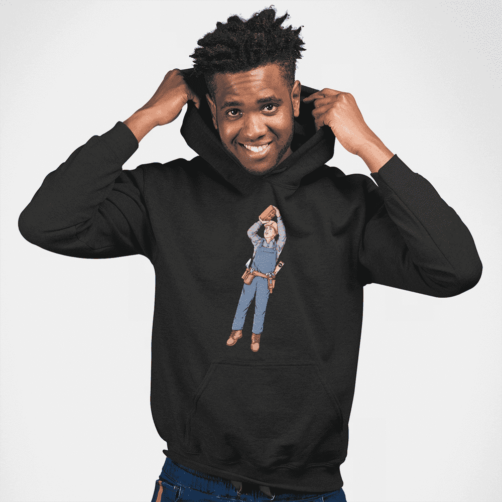 Men's Brick Shot Black Hoodie