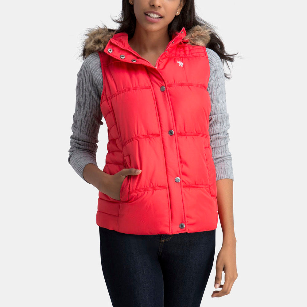 Vesta US POLO ASSN Fur Hood - Veste Dama US POLO ASSN