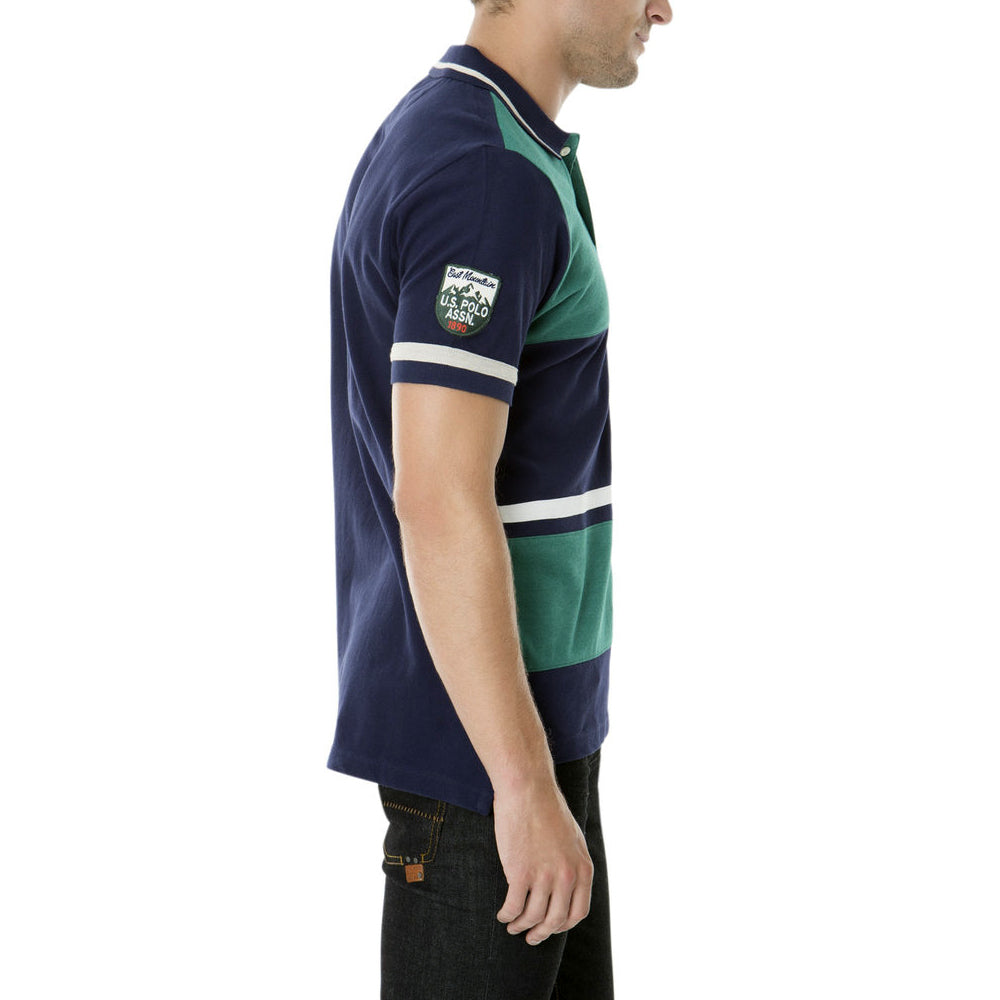 Tricou Polo US POLO ASSN Color Block - Tricouri Barbati US POLO ASSN
