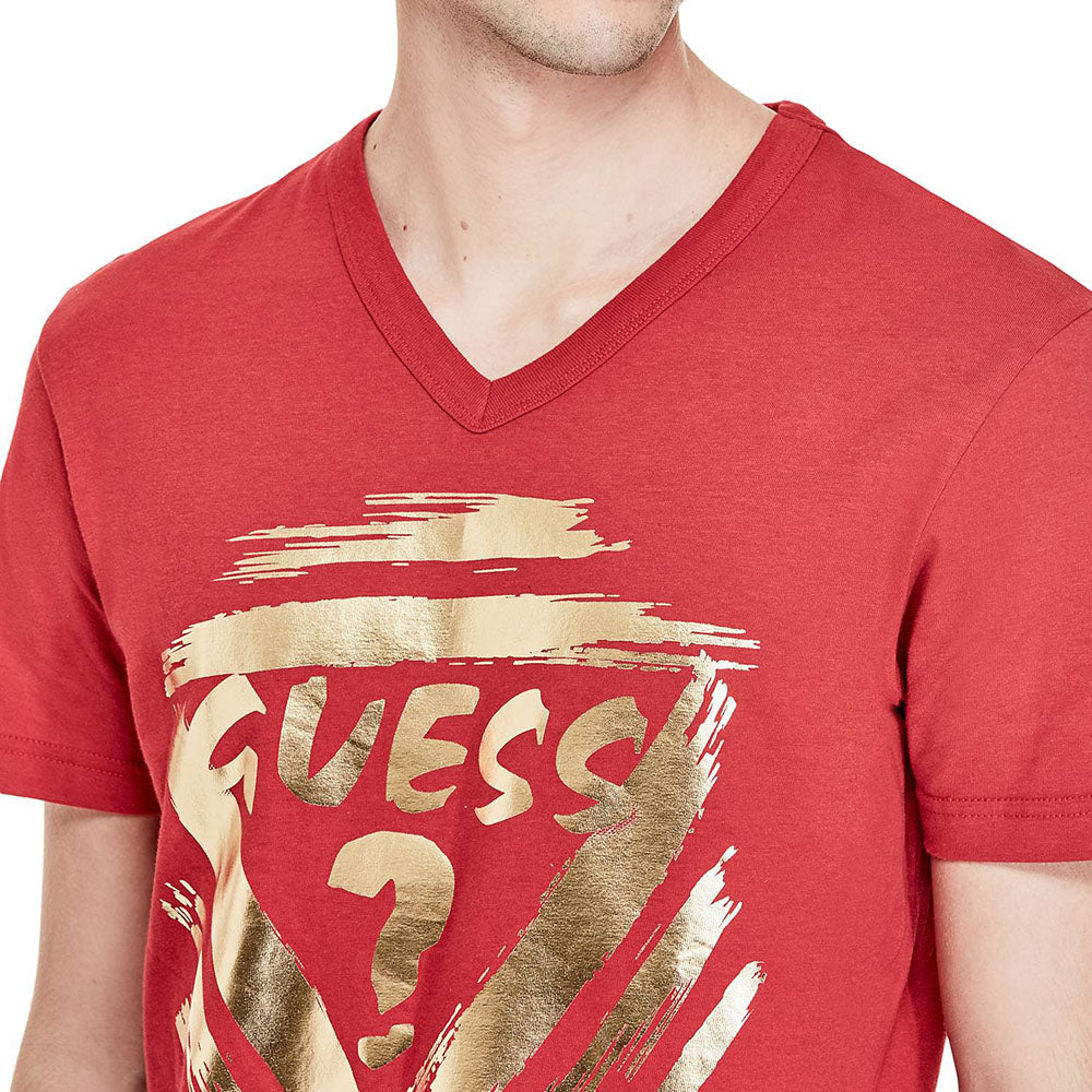 Tricou GUESS Red - Tricouri Barbati GUESS