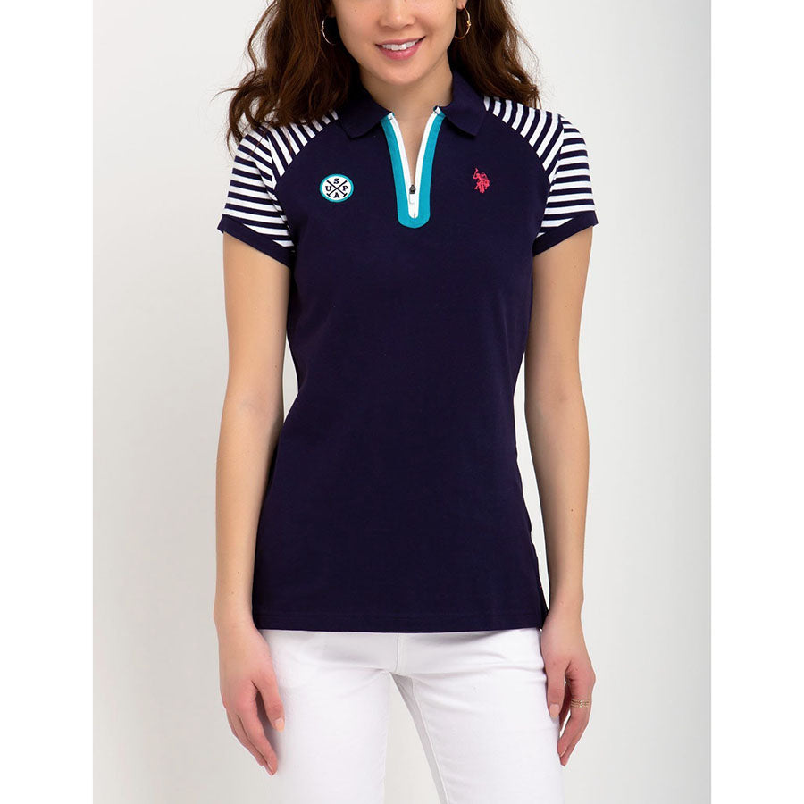 Tricou Femei Polo US POLO ASSN Zipper