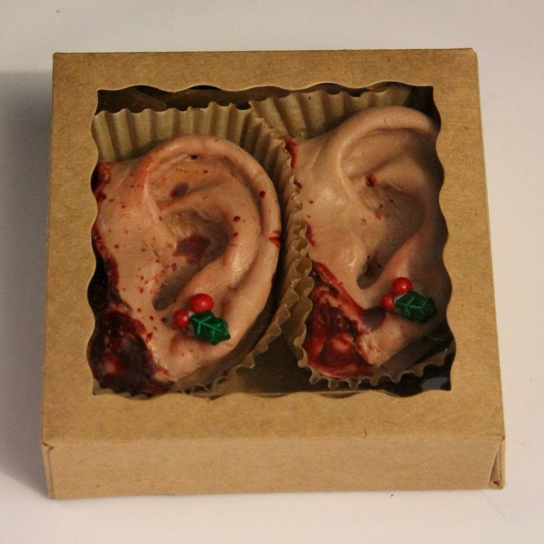 Holiday Themed Chocolate Severed Ears, box of 2