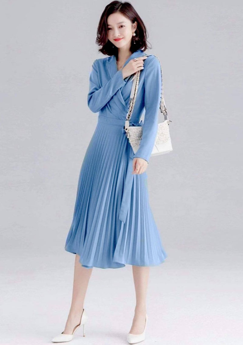 2021 Elegant Midi Wrap Dress