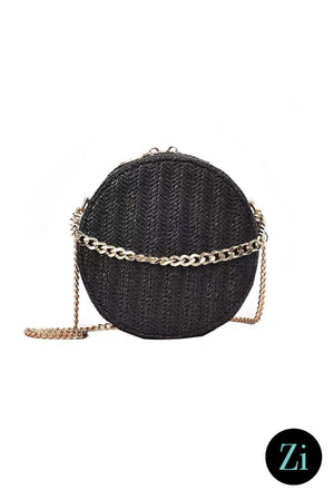 Bag - Cute Fashion Designer Moon Bag (Black)