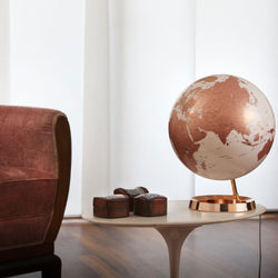 Light & Color Designer Series Globe Copper, Desktop Globes, Waypoint Geographic - Waypoint Geographic
