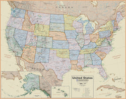 Hemispheres Boardroom USA Laminated Wall Map 38 x 48, Wall Maps, Hemispheres - Waypoint Geographic