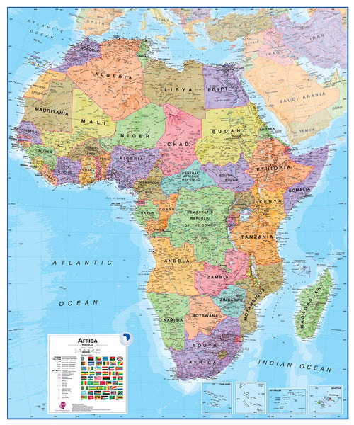 Africa 1:8 Wall Map - Laminated