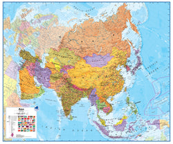Asia 1:11 Wall Map - Laminated, Wall Maps, Waypoint Geographic - Waypoint Geographic