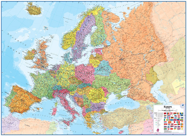 Europe 1:4.3 Wall Map - Laminated