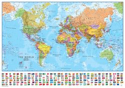 World Wall Map 1:40 Scale - Laminated, Wall Maps, Waypoint Geographic - Waypoint Geographic