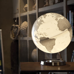 Light & Color Designer Series Globe Silver, Desktop Globes, Waypoint Geographic - Waypoint Geographic