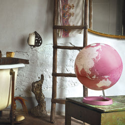 Light & Color Designer Series Globe Pink, Desktop Globes, Waypoint Geographic - Waypoint Geographic